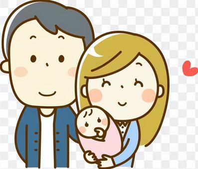 夫妇和婴儿