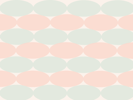 Green and pink oval background