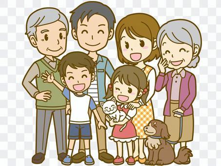 Family: A_ 3 generations (pet) FS