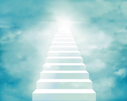 Stairs leading to heaven Background illustration 2