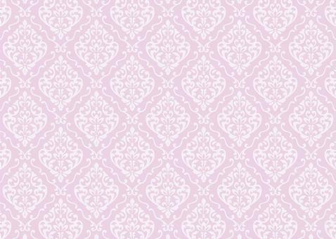 Damask pattern European pink