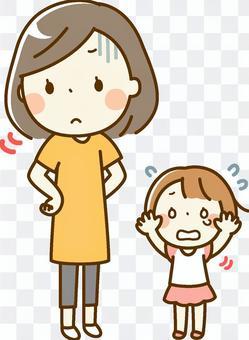 無視する母親と子供