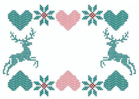 十字繡鹿框架