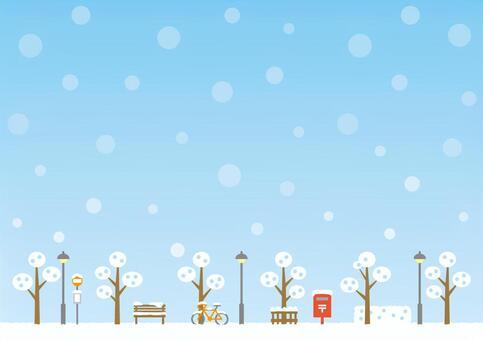 Background (sky and promenade winter daytime)