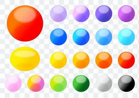 カラフル円形ボタンセット