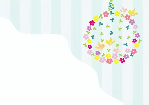 花和鳥框架