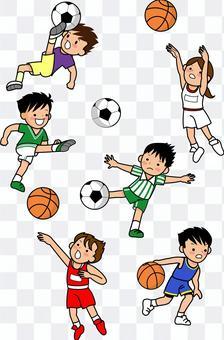 籃球和足球