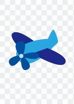 Airplane (blue)