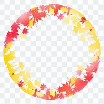 框架,秋葉和銀杏樹