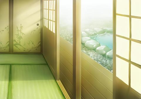 Japanese-style room porch illustration