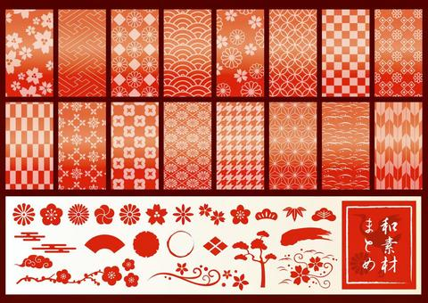 Japanese Material Summary Red