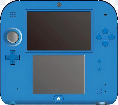 Mobile game machine blue