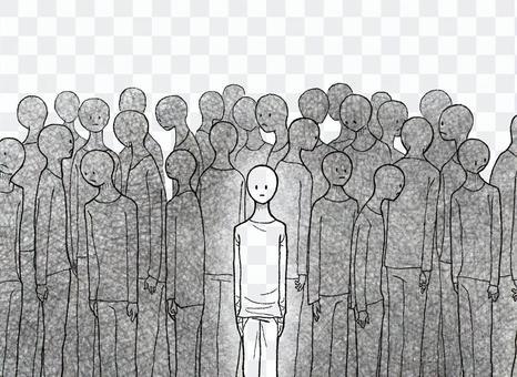 人群寂寞寂寞