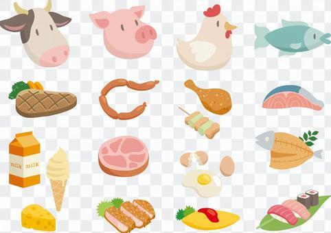 肉和魚各種