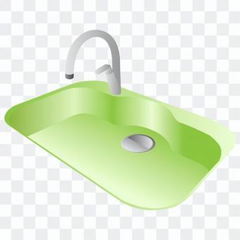 水槽(綠色)