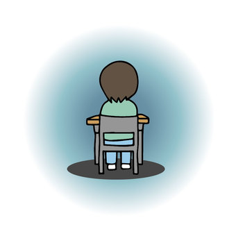 Isolated in class, lonely at school, ignored, out of friends