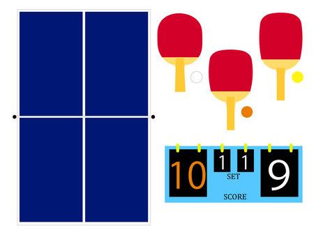 乒乓球 (乒乓) 圖標集 1