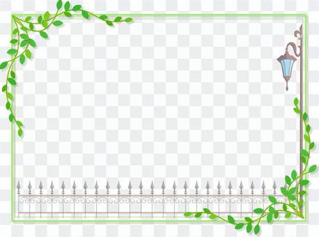 路灯和篱笆框架