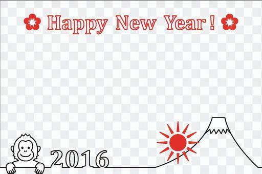 簡單的新年賀卡框架2