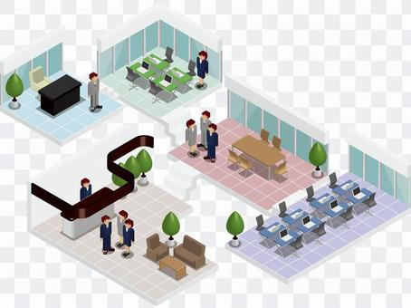 Office / building / company / building / cross section 2