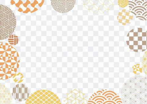 Background illustration of pop Japanese pattern 01