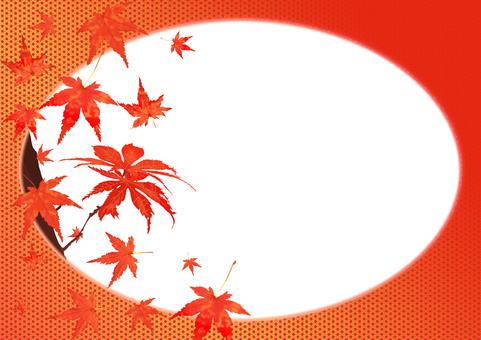 秋季楓葉和麻葉圖案