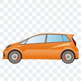 車側面図2 エコカー ハイブリッド車