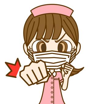 咕咚!女人①/護士/口罩