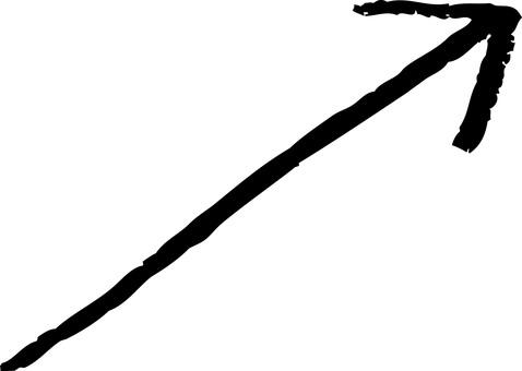 手繪箭頭向上-UP(黑白)