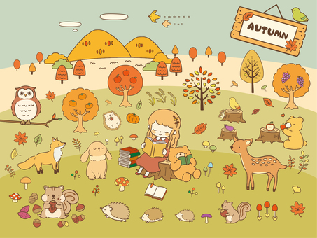 Autumn material collection