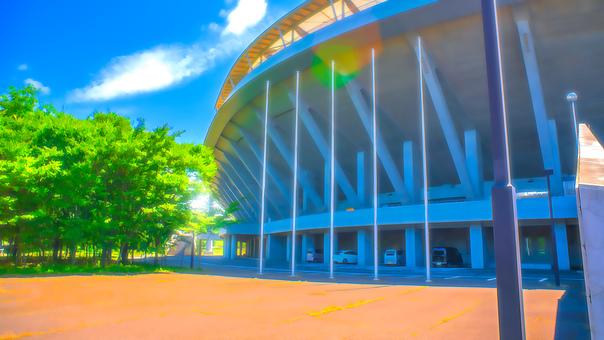 Stadium appearance Anime style processing