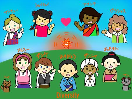 多樣性_世界之子_民族服飾