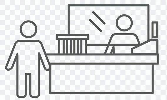 アイコン素材_感染症対策_飛沫防止シート