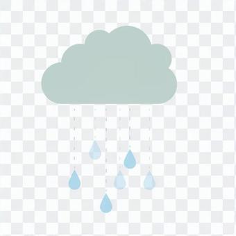 雨雲和雨滴