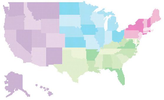 美國_Map_Dot_Region