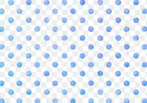 水彩虛線點紋理·藍色