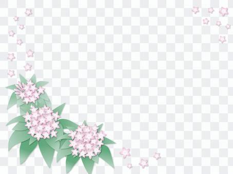 五角星形花框