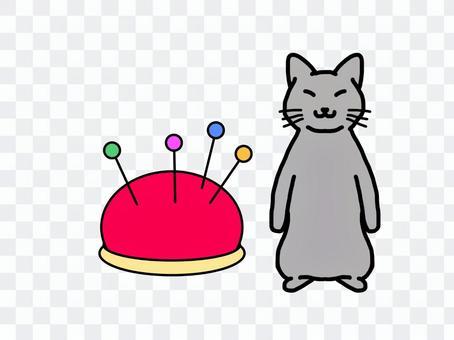 灰猫 針山