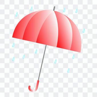紅傘的插圖