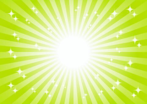 緑色の放射状キラキラ背景素材