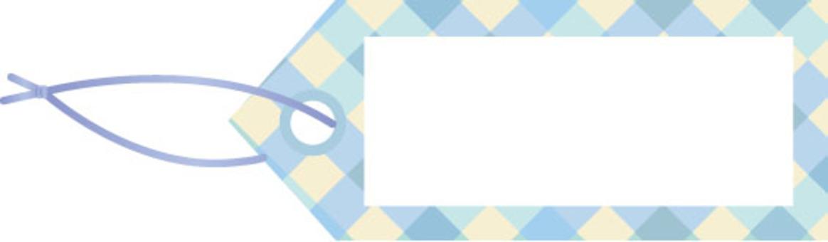 可愛的複選標記藍色