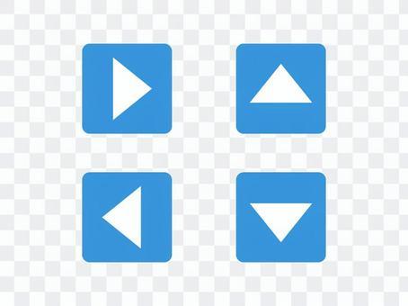 Triangular arrow _ square button (blue)