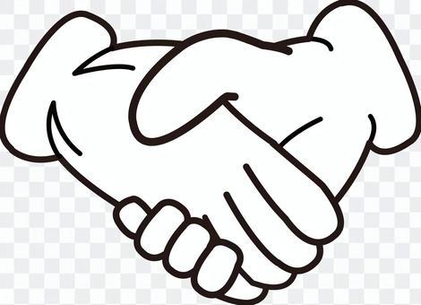手シリーズ 手袋 握手