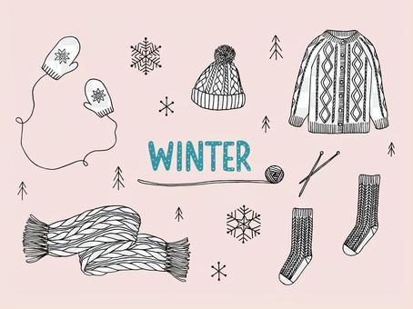 手工編織的冬季配件