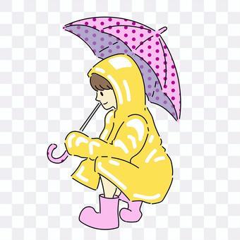 拿著傘的女孩
