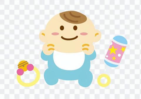 嬰兒和無線玩具