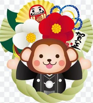 Shimekari和Osaru標誌樣式