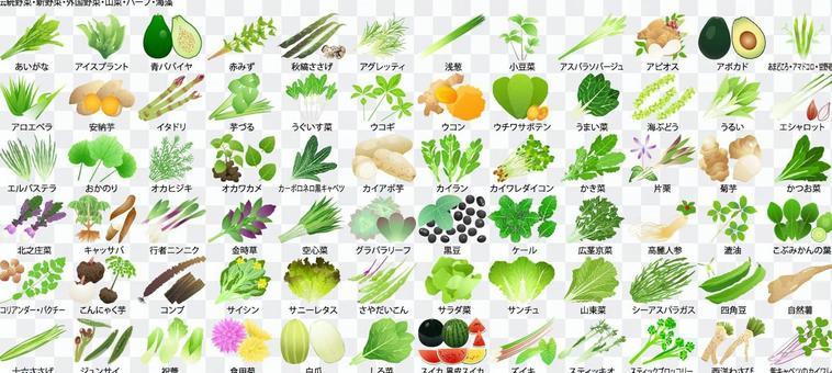 不尋常的蔬菜和海藻(可提供PDF兼容文件)