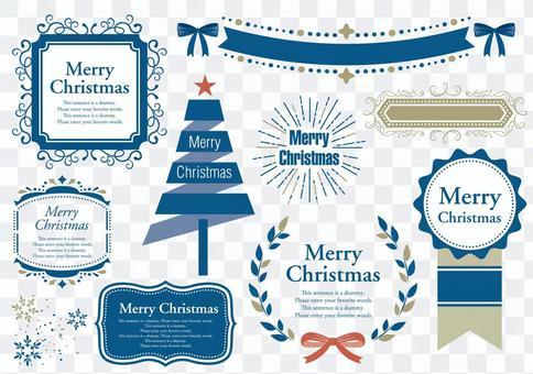 設置材質012聖誕節框架