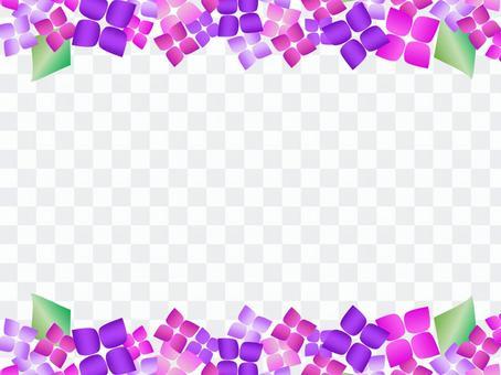 時尚繡球花框紫色